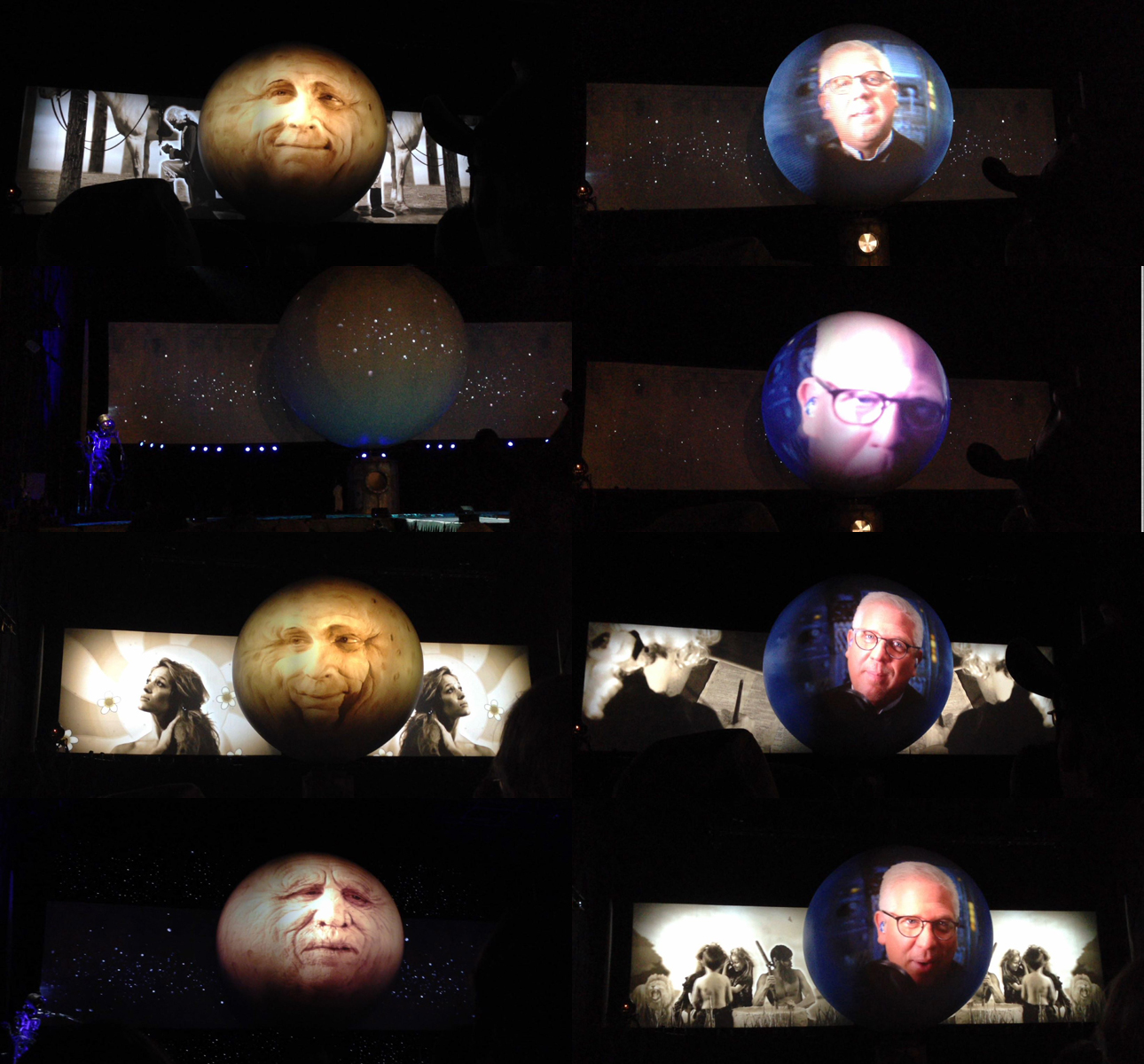Beck man in the moon collage