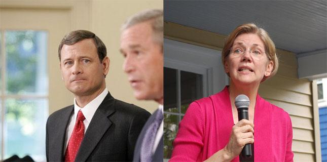Justice Roberts and Sen. Warren