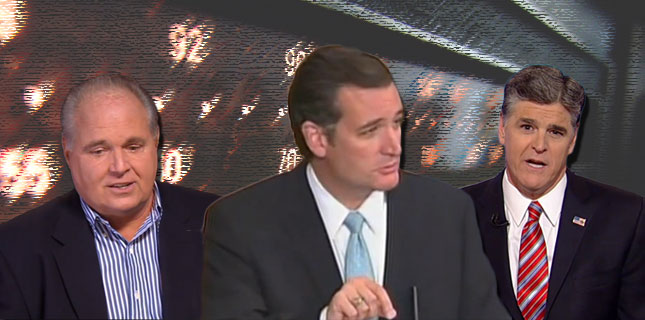 Rush Limbaugh, Ted Cruz, Sean Hannity
