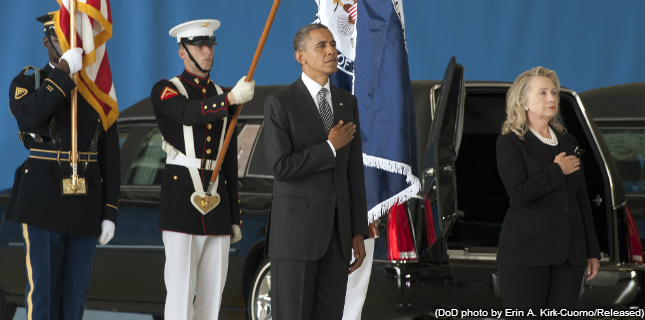 Obama, Clinton Receive The Bodies Of Americans Killed In Libya