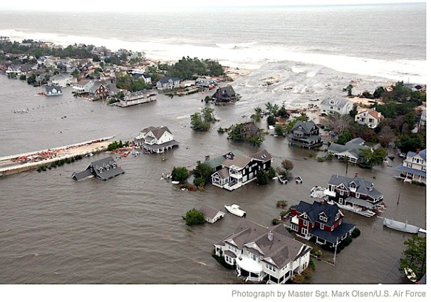 Jersey Shore Flooding - U.S. Air Force via stephenleahy.net