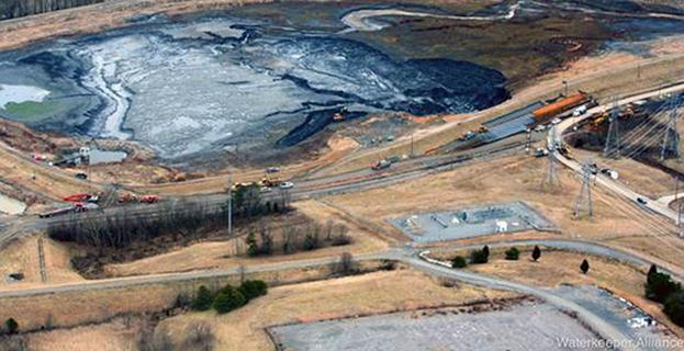 North Carolina coal ash spill via Waterkeeper Alliance, Flickr Creative Commons 2.0