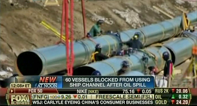 Fox Promotes KXL Pipeline With Galveston Spill