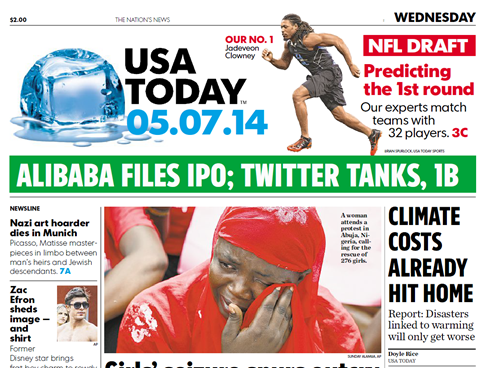 USA Today Front Page May 7