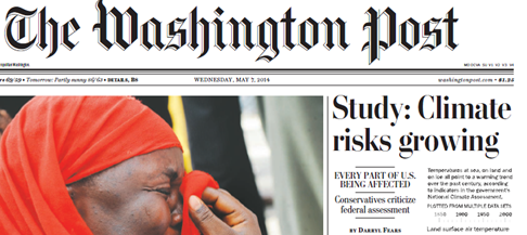 WaPo Front Page May 7