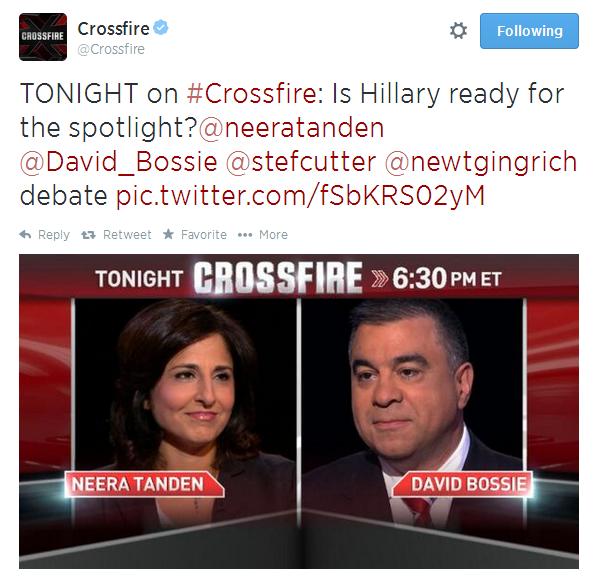 Crossfire tweet