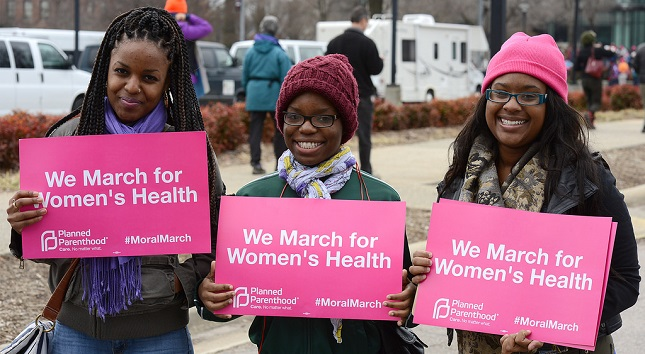 We march for women's health