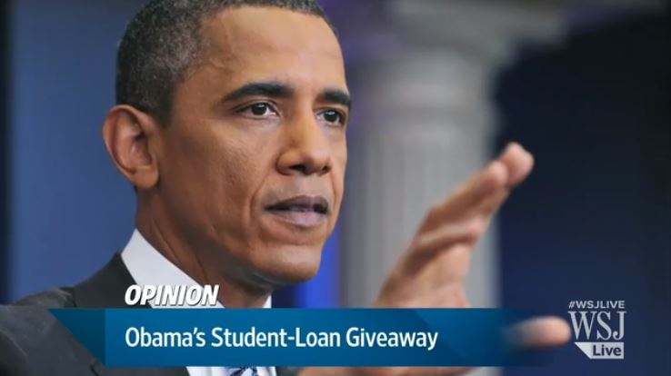 Wall Street Journal Calls Obama Loan Relief A
