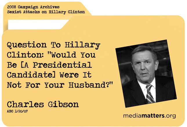 Media Matters archive: Charles Gibson