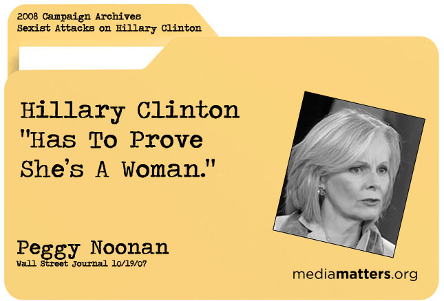 Media Matters archive: Peggy Noonan