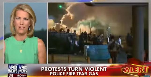 Laura Ingraham on Fox discussing Ferguson protests