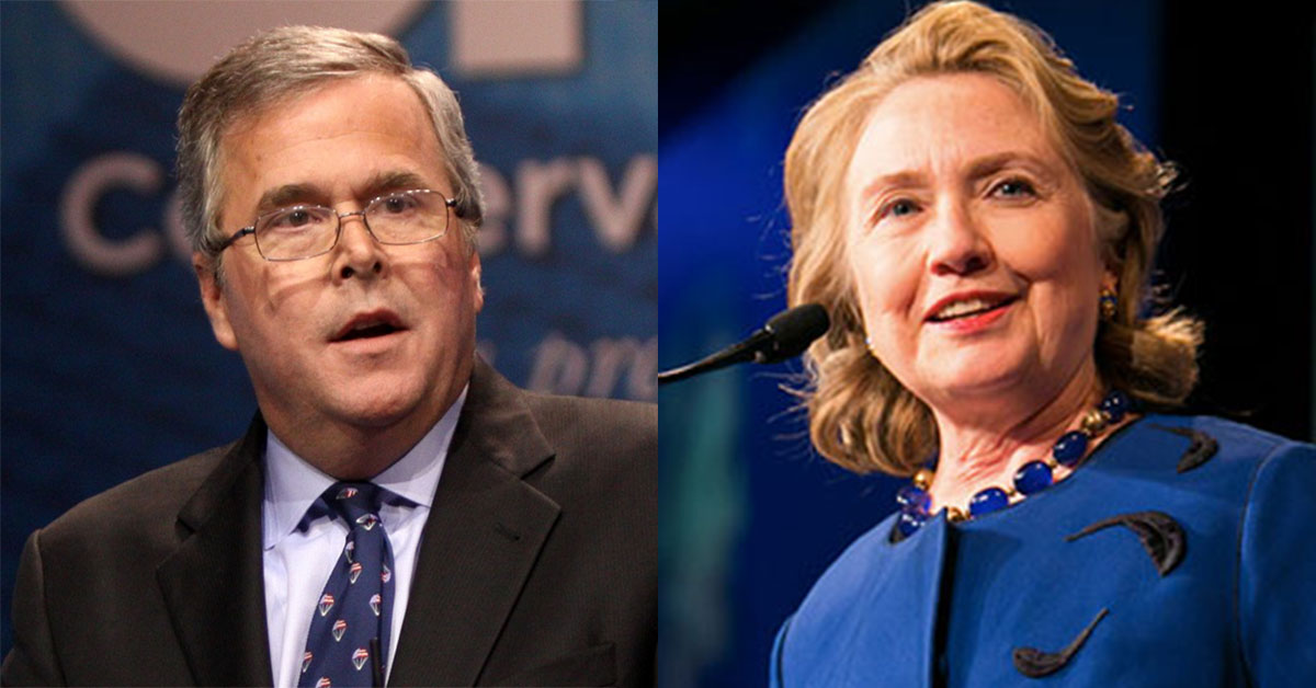Jeb Bush Hillary Clinton