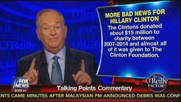 Bill O'Reilly reports on the Clinton Foundation