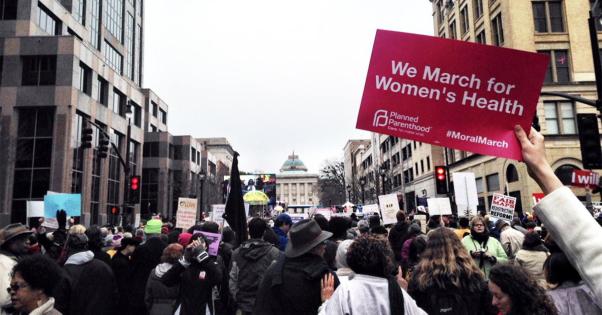 Planned Parenthood march for women's health