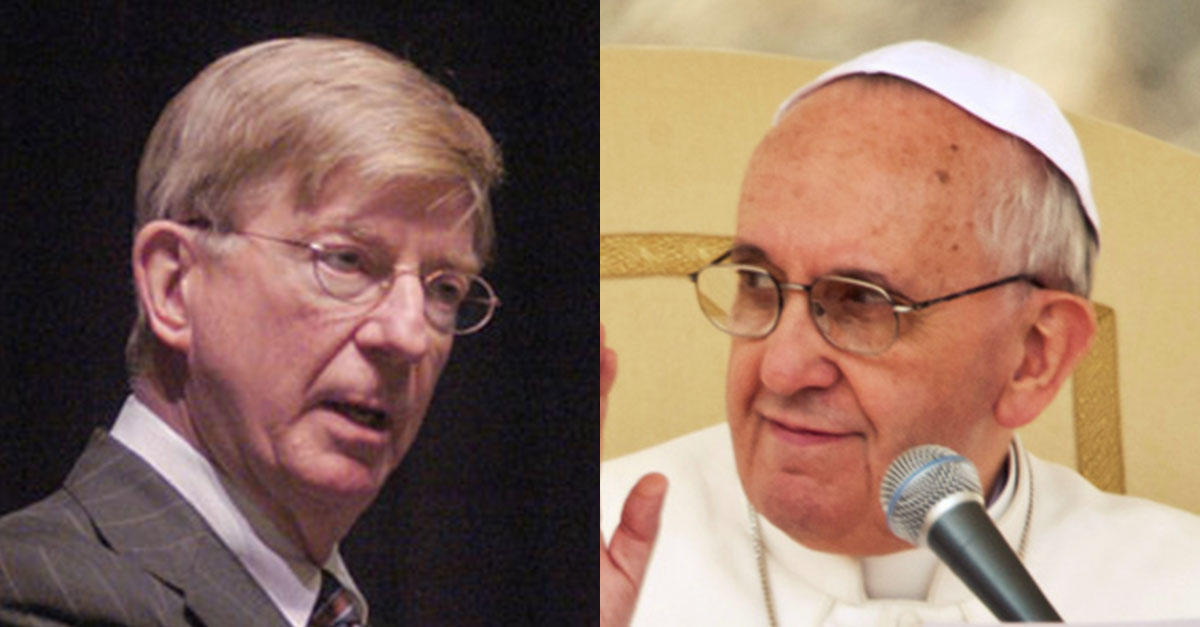 george will, pope francis