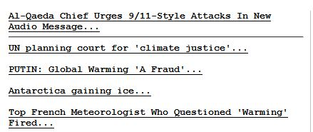 Drudge Report Front Page