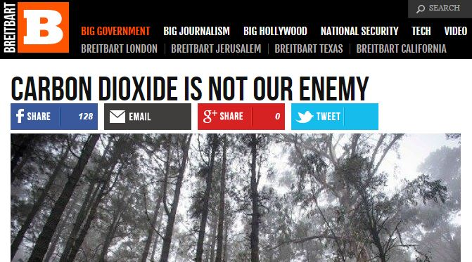 Breitbart CO2 Not the Enemy