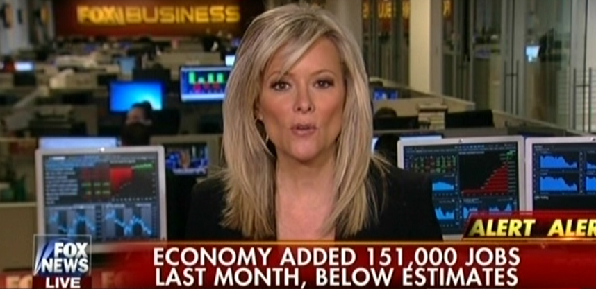 Fox's Gerri Willis Apparently Didn't Actually Read The Jobs Report