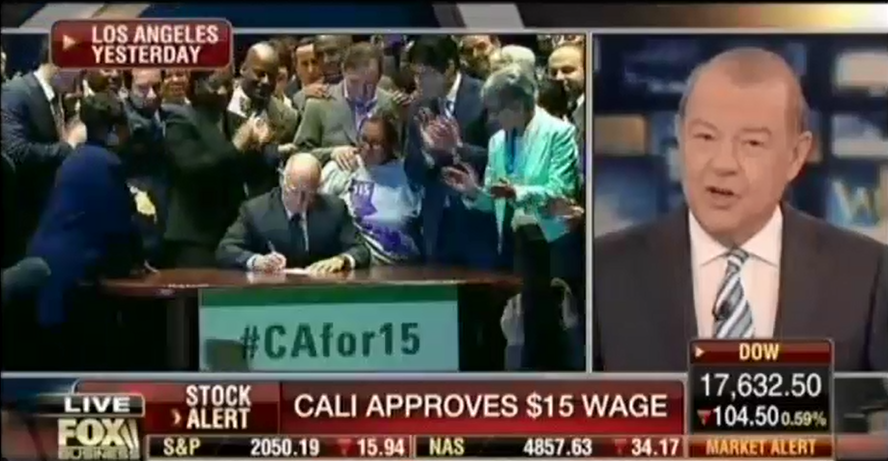Stuart Varney Discusses Minimum Wage