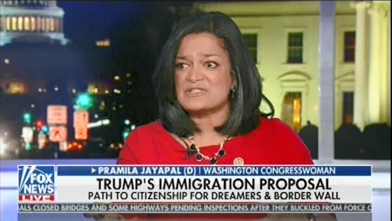 .@RepJayapal refuses to let Tucker Carlson cut her off, calls out Fox News for misleading on family immigration
