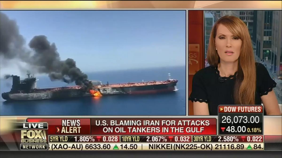 "Fox Business host asks whether attacks on oil tankers in the Persian Gulf could be ""a false flag"""