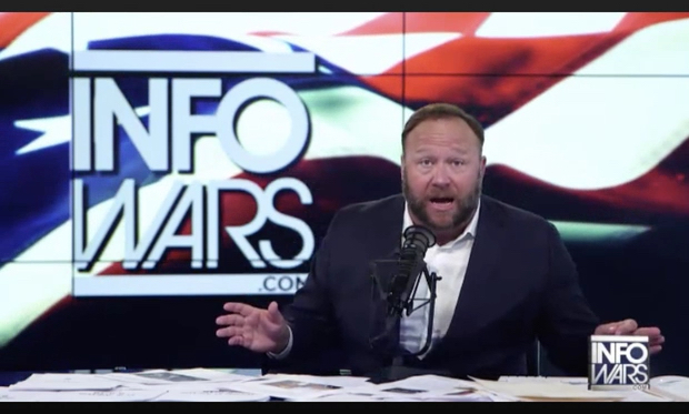 Alex Jones says Infowars platform bans are first step in globalist plot to carry out violent false flag attacks against CNN and MSNBC