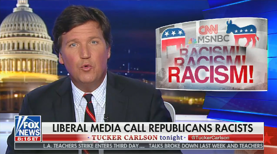 Tucker Carlson completely ignored Rep. Steve King's racist comments -- except to attack the media