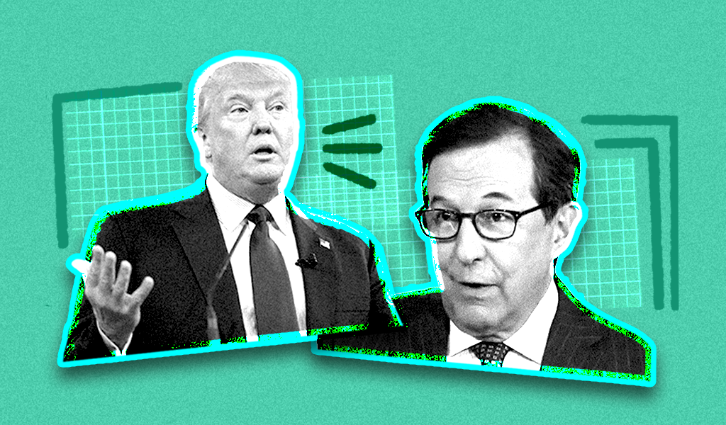Chris Wallace and Donald Trump