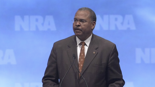 Ken Blackwell speaks at an NRA event