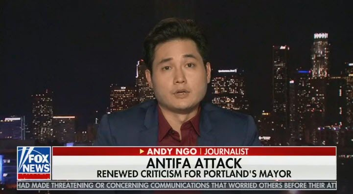 Andy Ngo on Fox News @ Night