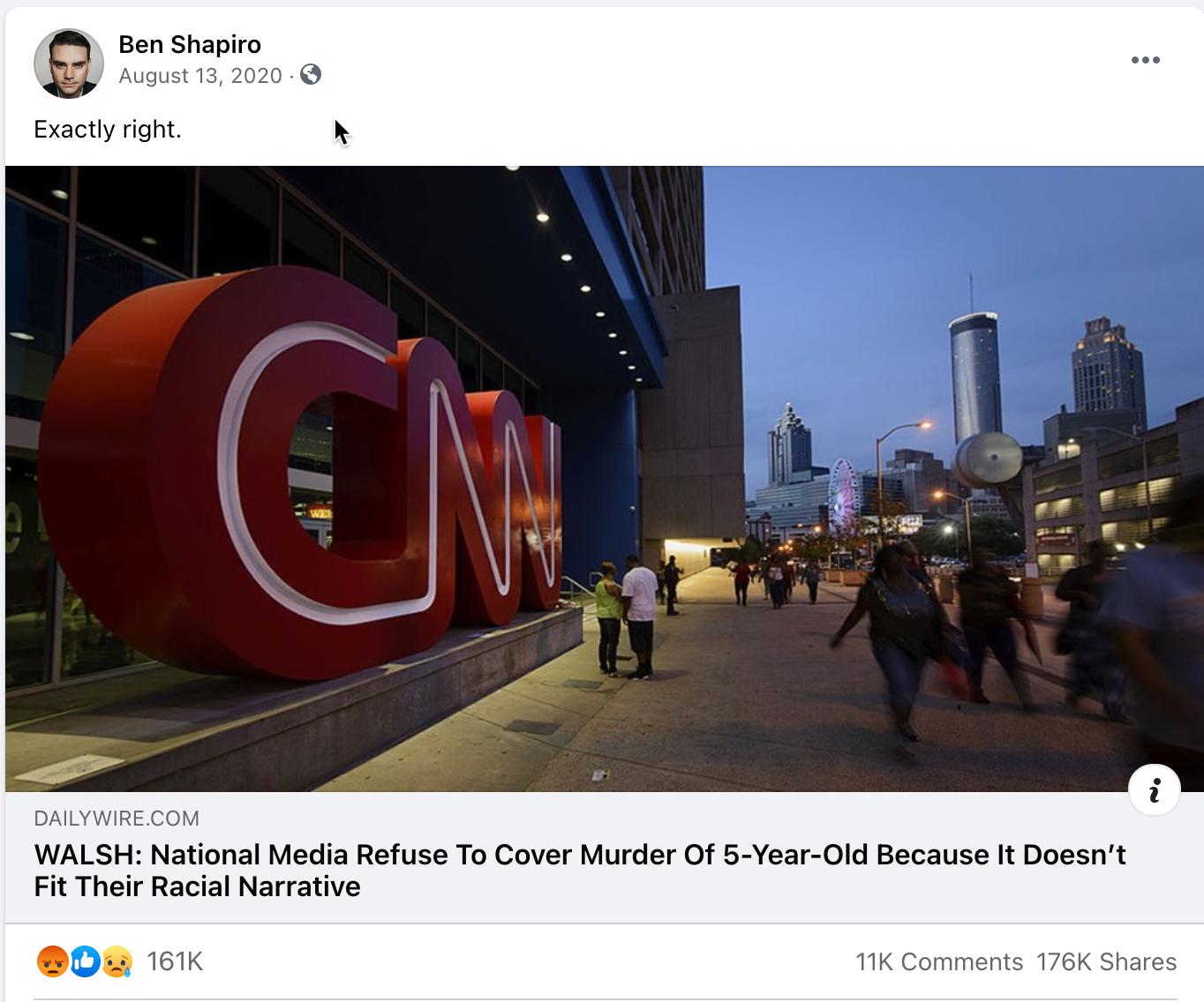 Ben Shapiro_facebook post_20200813