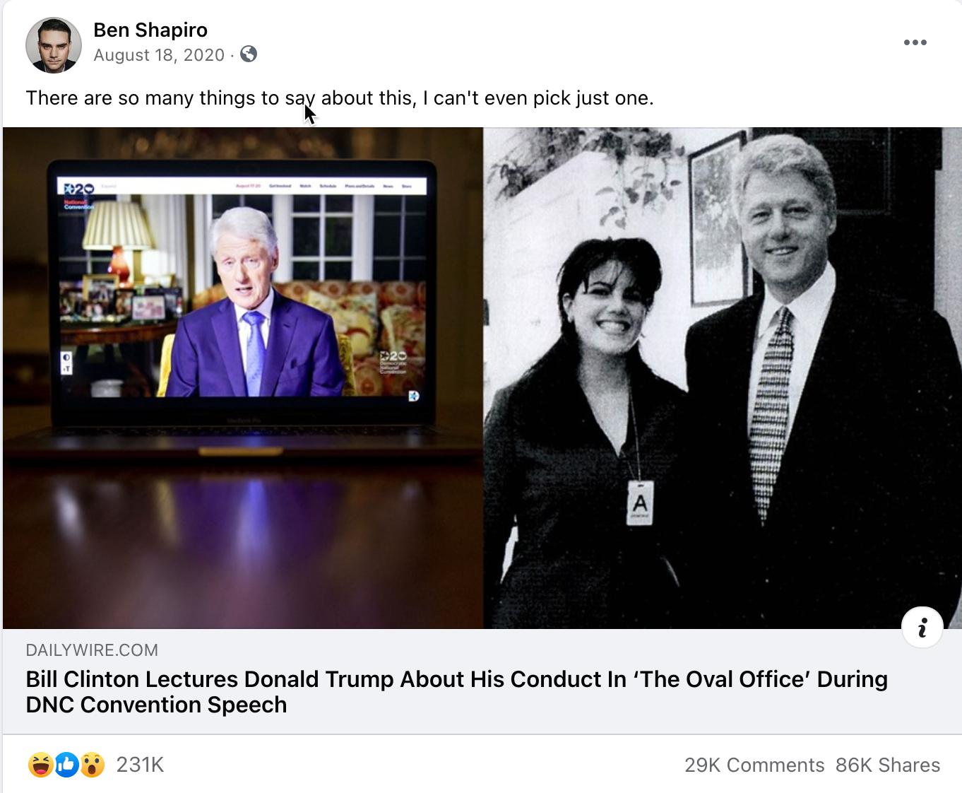 Ben Shapiro_facebook post_20200818