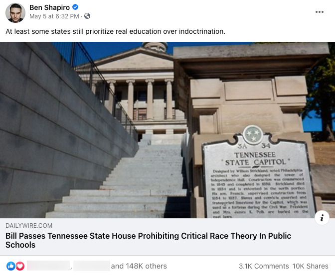 Ben Shapiro_facebook post_20210505