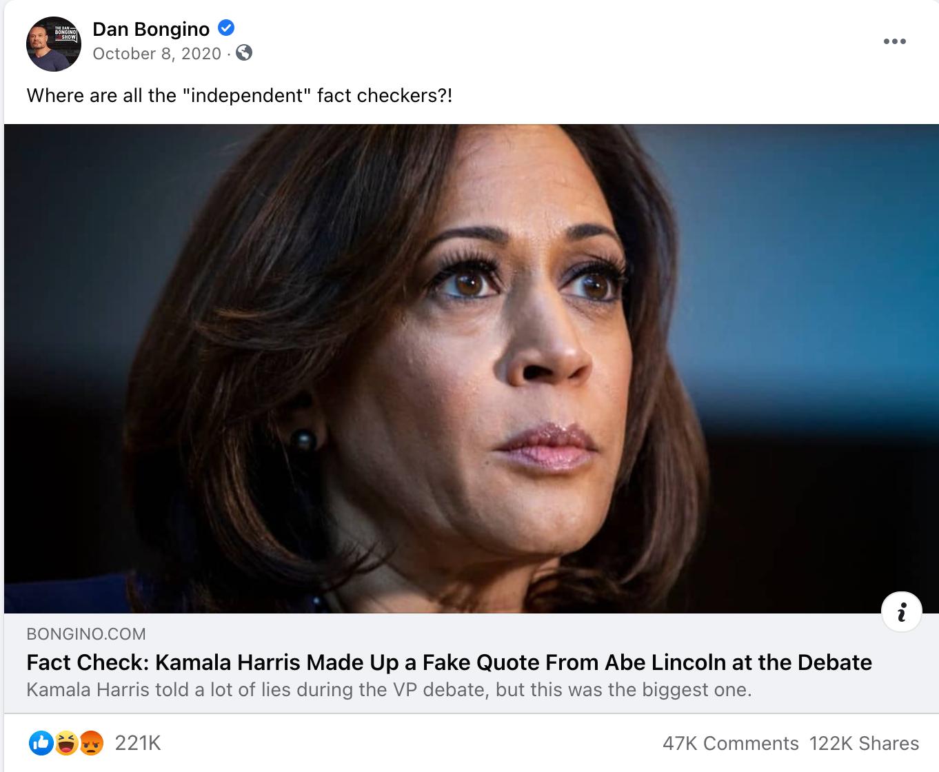 Dan Bongino_facebook post_20201008