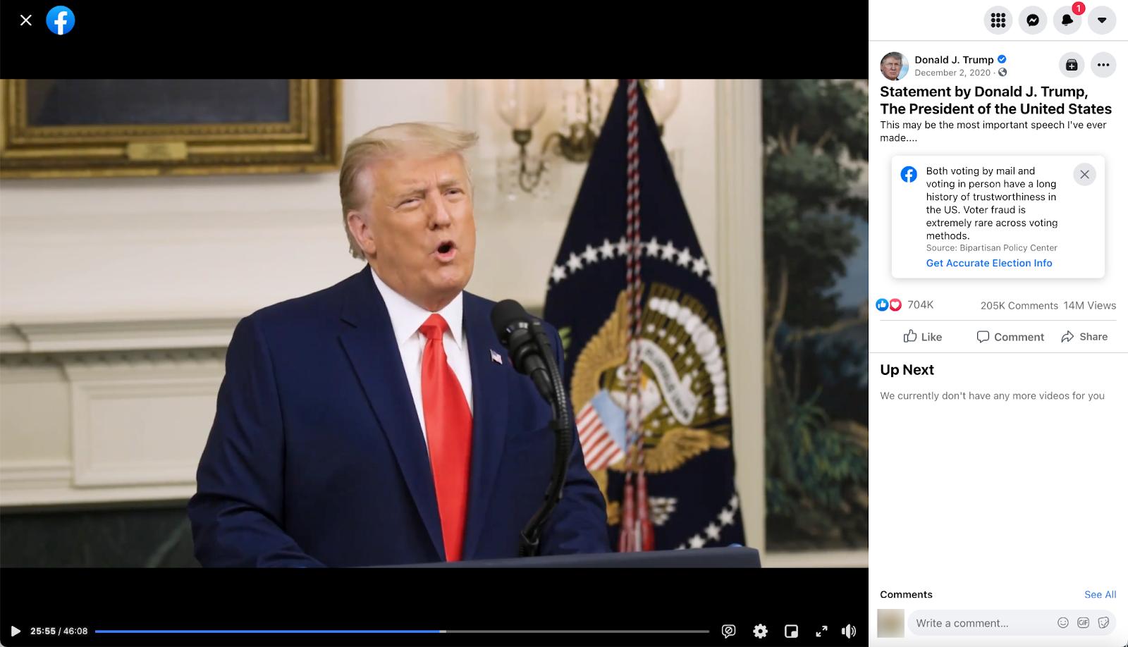 Donald Trump_facebook post_20201202