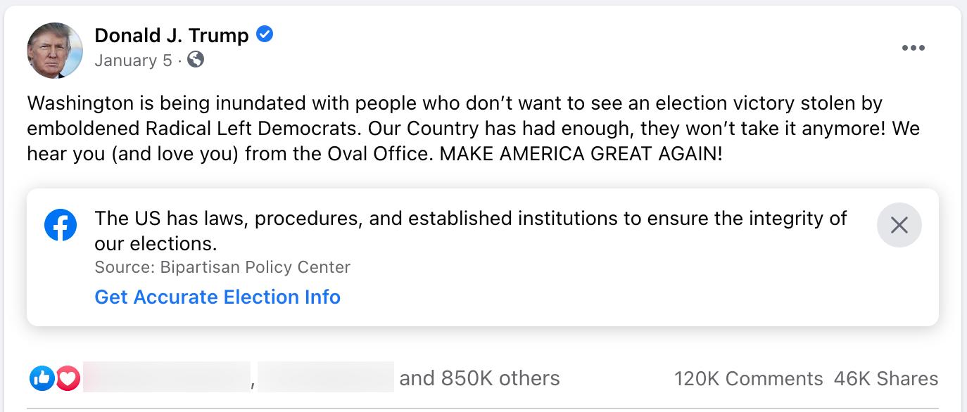 Donald Trump_facebook post_20210105