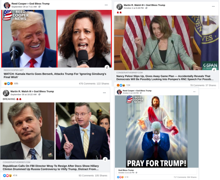 facebook posts in God Bless Trump FB group