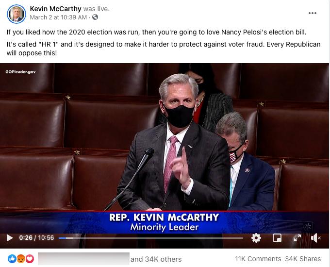 Kevin McCarthy_facebook post_20210302