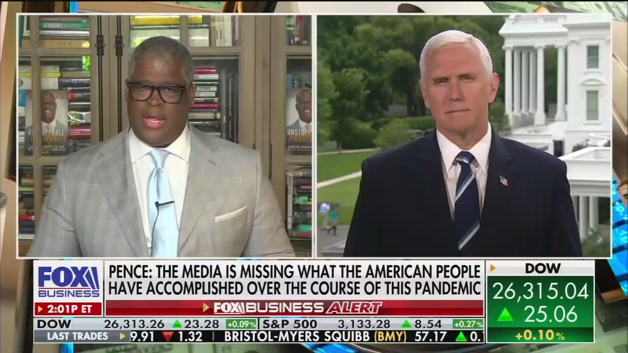 Mike Pence and Charles Payne