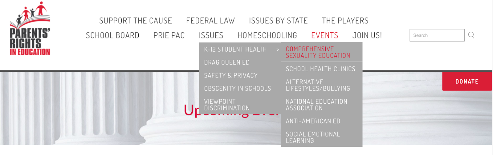 Parents' Rights in Education_website_issues