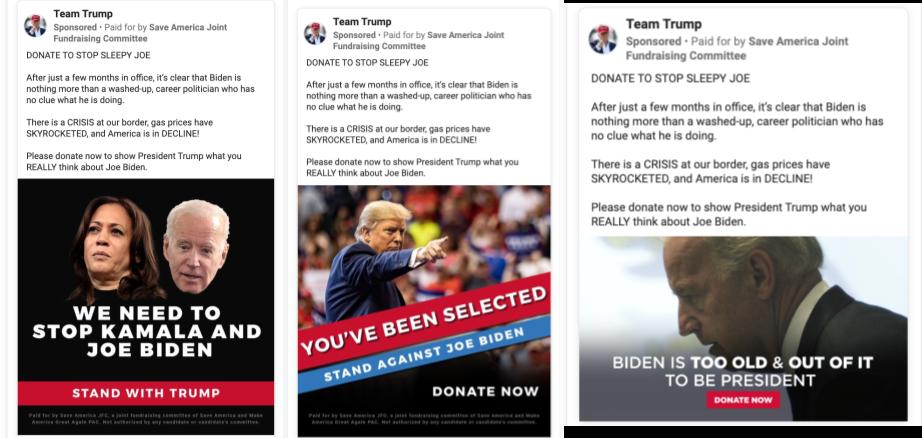 Team Trump facebook anti-Biden fundraising ads (1)