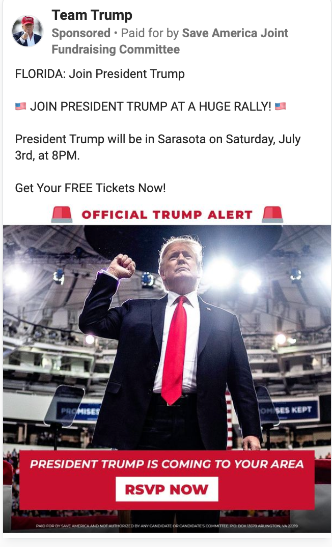 Team Trump_trump florida rally ad_example_20210630