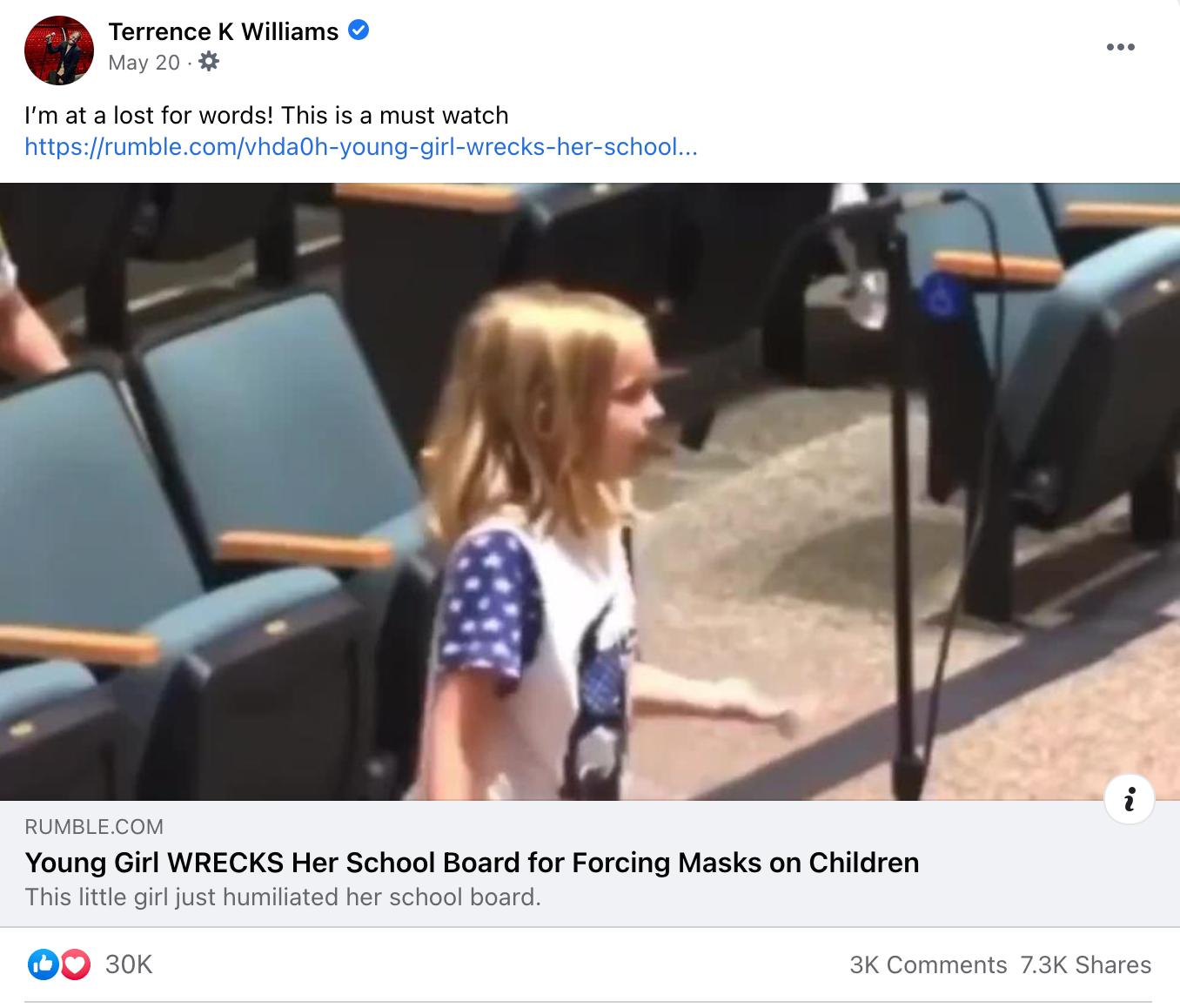 Terrence K Williams_facebook post_20210520