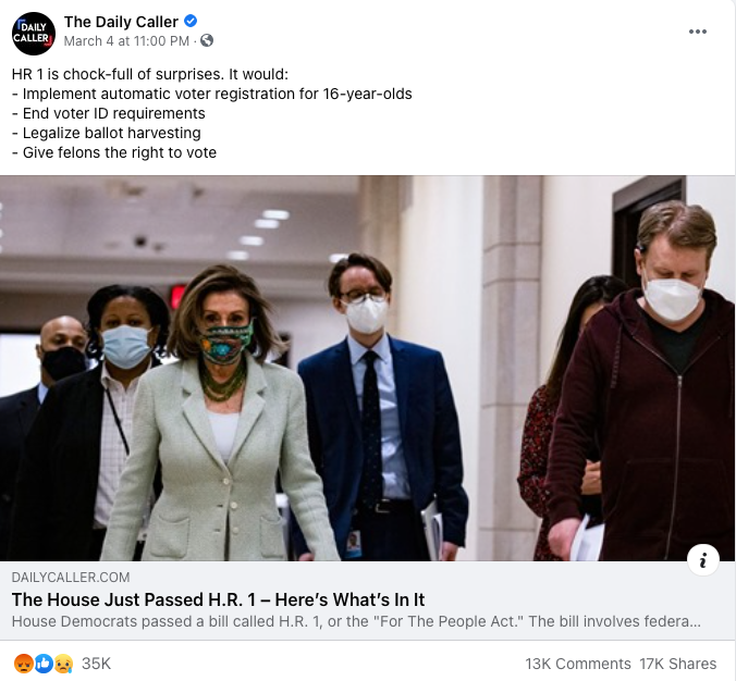 The Daily Caller_facebook post_20210304