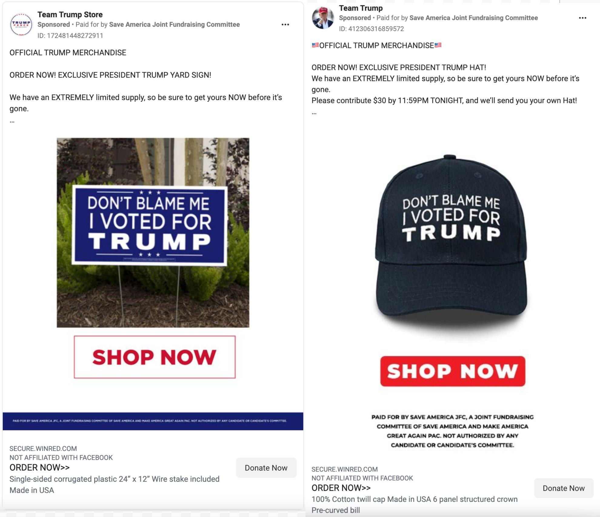 Trump PAC ads