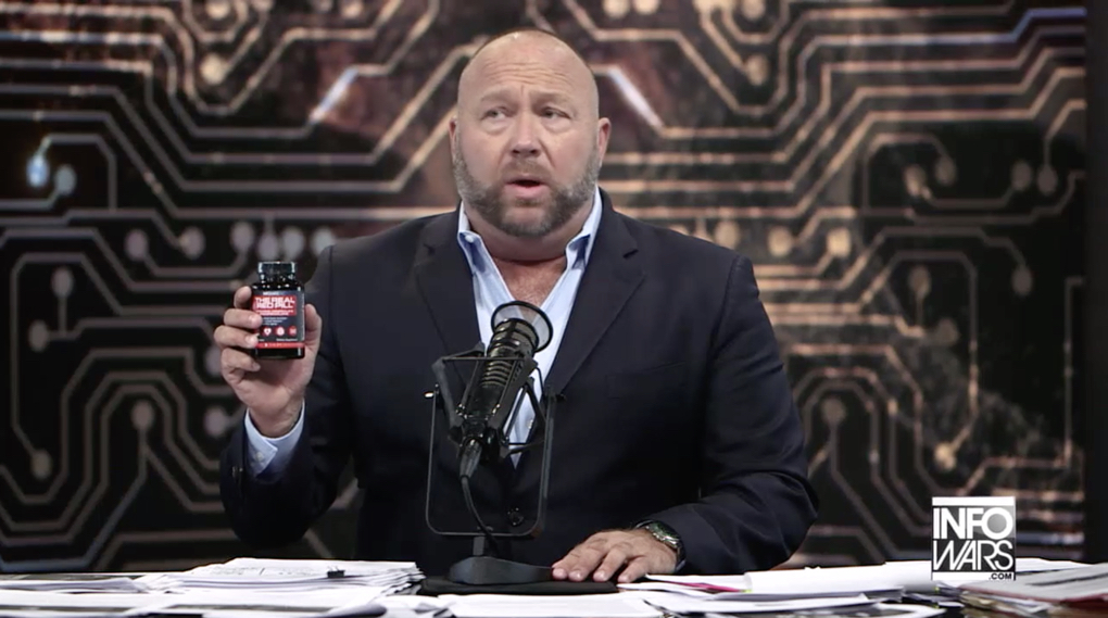 Alex Jones selling zinc