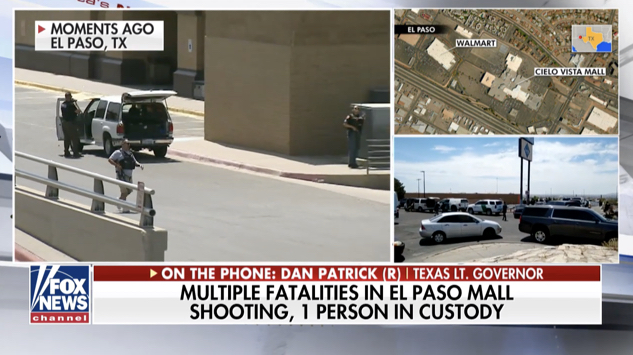Dan Patrick referenced antifa while calling into Fox News to discuss El Paso shooting