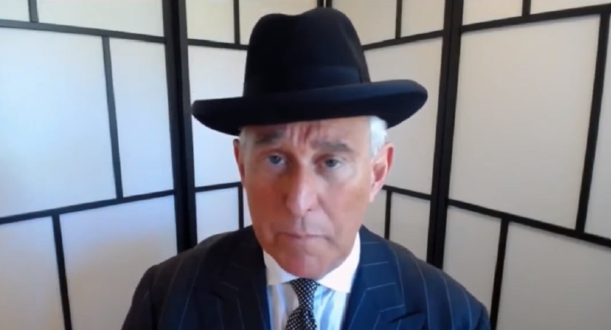 Roger Stone in a hat