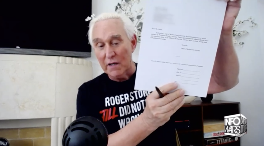Roger Stone signs commutation papers
