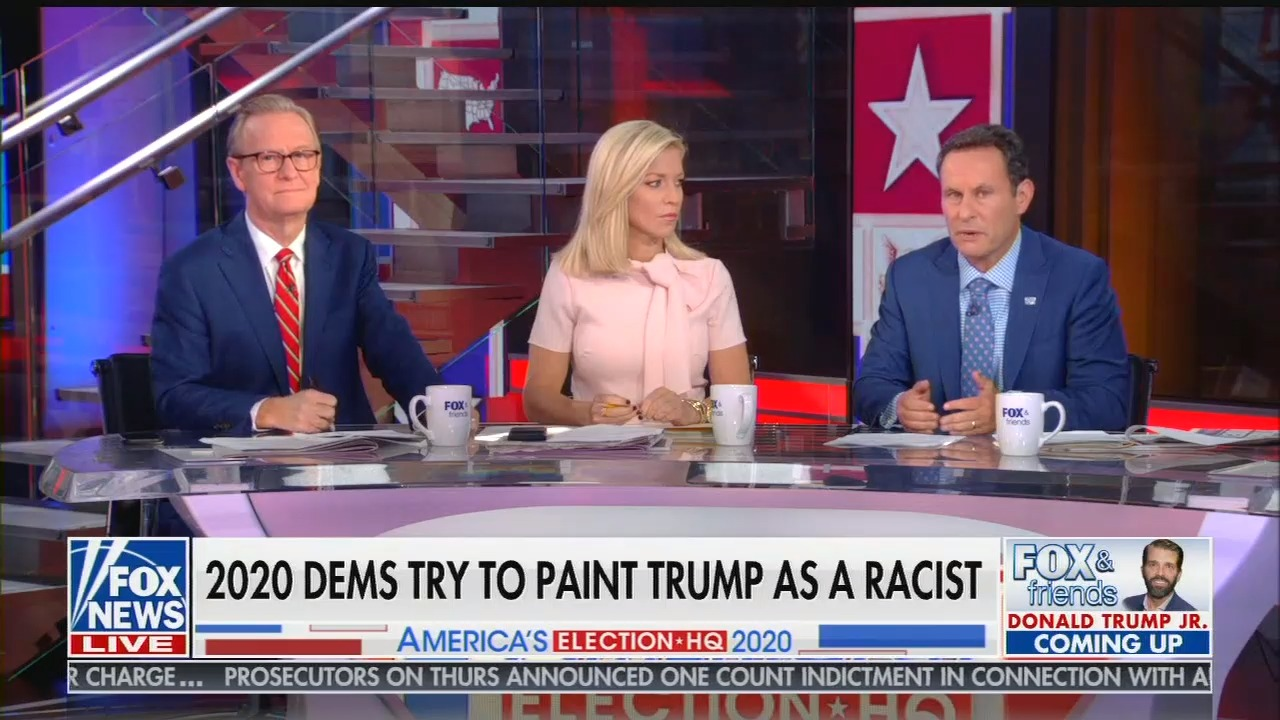 Fox & Friends hosts were furious that presidential candidates called out Trump's racism